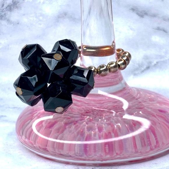 Tarina Tarantino Black Crystal Cluster Ring
